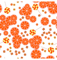Seamless pattern of oranges slices and candy vector image vector image