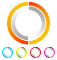 segmented circle abstract icon circular geometric vector image