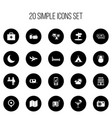 set of 20 editable travel icons includes symbols vector image vector image