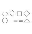 set of simple geometric shapes on white vector image