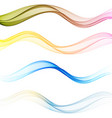set waves abstract wave motion flow vector image vector image