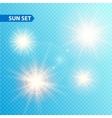 Sun burst collection vector image vector image