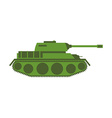 Tank isolated Military equipment on white vector image vector image