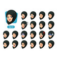 The third set of muslim woman cartoon avatars