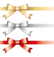 three bows vector image vector image