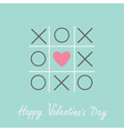 Tic tac toe game cross and heart valentines day vector image vector image