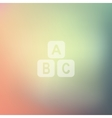 toy cube icon on blurred background vector image vector image