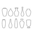 various forms vases ceramic vases collection vector image vector image