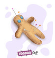 voodoo doll pins realistic vector image