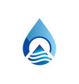water drop technology abstract logo vector image vector image