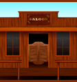 western saloon entrance composition vector image