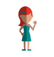 woman cartoon isolated casual vector image vector image