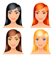 women hair colors vector image vector image