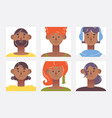 youth characters avatars indian young men vector image
