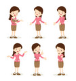 teacher woman various actions vector image