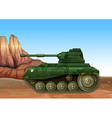 A military fighter tank vector image vector image