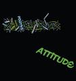 attitude determines altitude text background word vector image vector image