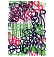 Background Graffiti Stickers vector image
