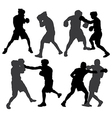 Boxing Silhouette vector image vector image