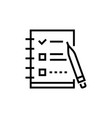 check list - line design single isolated icon vector image