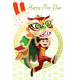 chinese lion dance vector image