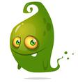 Cute cartoon green ghost Halloween