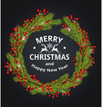 Decorative green Christmas wreath vector image vector image