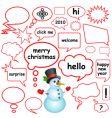 dialog bubbles vector image