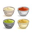 dip bowls vector image