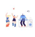 disco people dj fest flat vector image