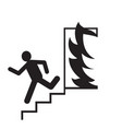 emergency exit silhouette man running signs vector image vector image