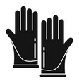 forensic lab gloves icon simple style vector image