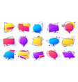 gradient speech bubble set colorful frames with vector image vector image