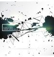 grunge style black ink splatter background design vector image vector image