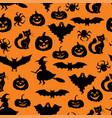 halloween symbols pattern seamless vector image vector image