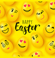 happy easter greeting card funny eggs vector image vector image