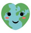 happy globe image vector image vector image