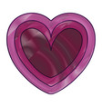 heart love silhouette decorative vector image vector image