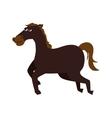 horse ride cartoon icon graphic vector image vector image