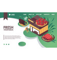 isometric concept banner or landing page vector image vector image