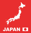 japan map on red background vector image vector image