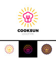 kitchen cafe restaurant - logo template concept vector image