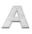 Leather White Textured Letter A