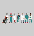 medical characters portraits middle eastern vector image vector image