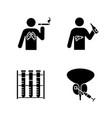 Mens health glyph icons set