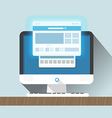 Modern personal computer with a browser Flat vector image vector image