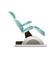 modern stomatology soft chair from natural leather vector image vector image