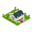 Modern townhouse flat 3d isometric vector image vector image