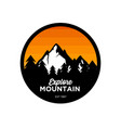 mountain logo design inspiration vector image vector image
