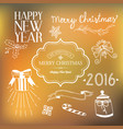 new year festive template vector image vector image